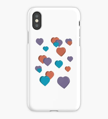 3D Hearts iPhone Case/Skin