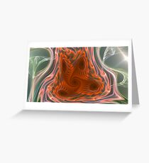 Middle red Greeting Card