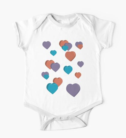 3D Hearts Kids Clothes