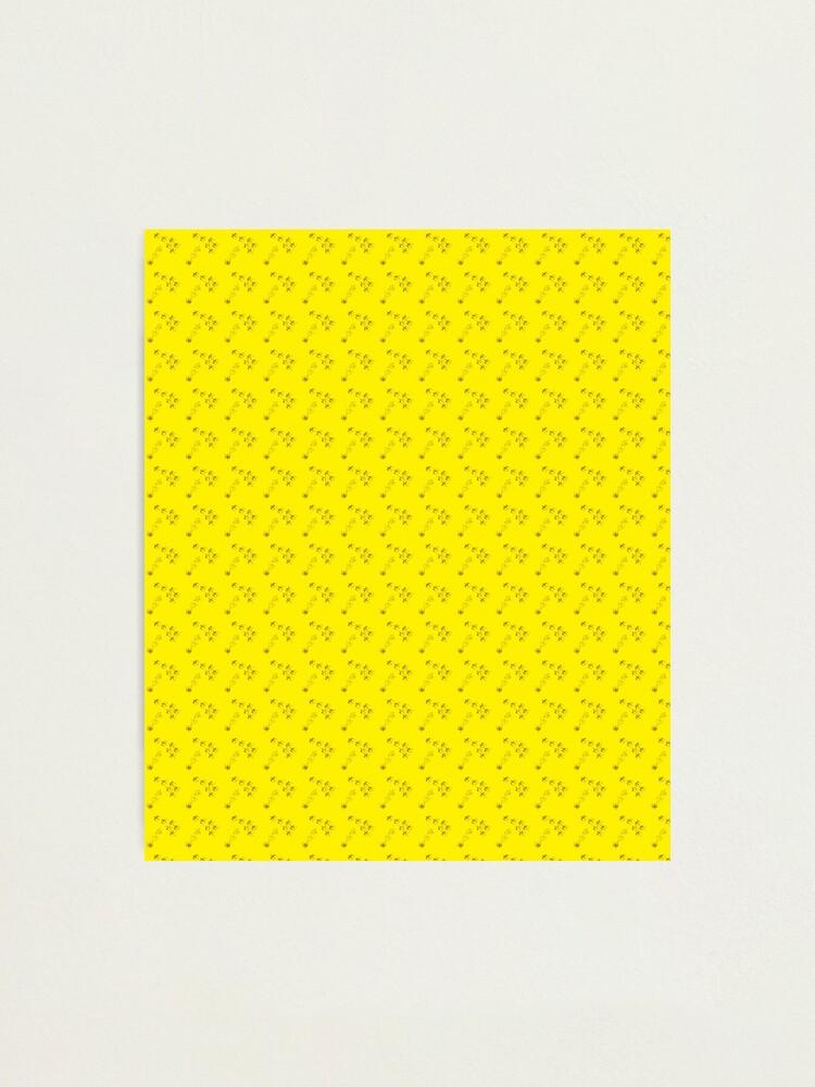 Alternate view of Cute birds animals yellow pattern Photographic Print