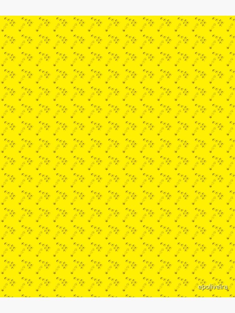 Cute birds animals yellow pattern by epoliveira
