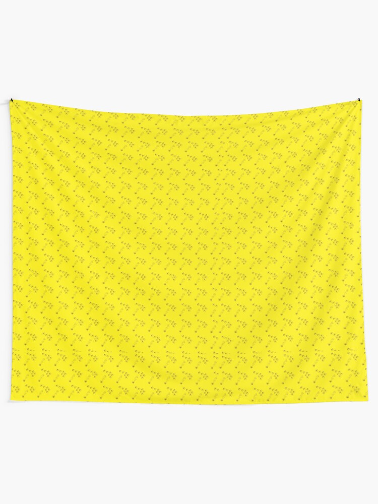 Alternate view of Cute birds animals yellow pattern Tapestry