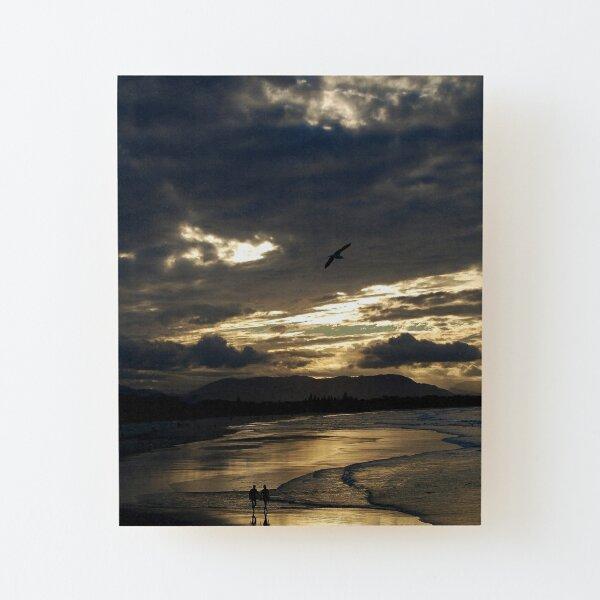Byron Bay Sunset  Wood Mounted Print
