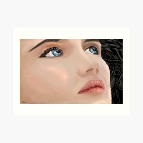 Isabelle Adjani Art Print