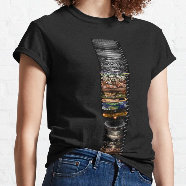 SCALES OF THE UNIVERSE (english labels vertical layout) Classic T-Shirt