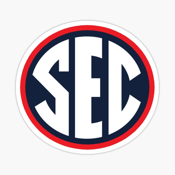 SEC - Ole Miss colors Sticker