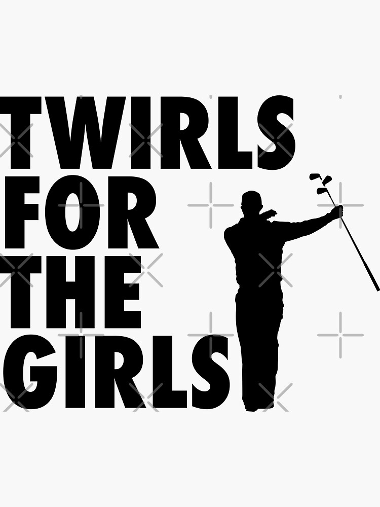 TWIRLS FOR THE GIRLS | TIGER WOODS GOLFER FUNNY COOL by pierrelaidesign