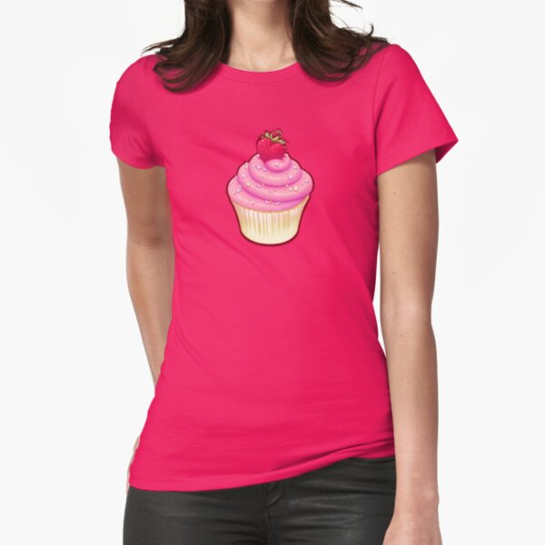 Fluffy Cupcake Love Fitted T-Shirt