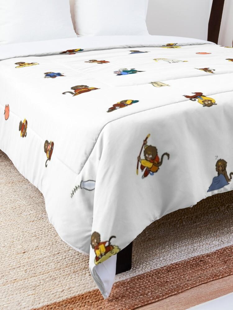 Alternate view of Barrel of Even More Monkeys Comforter