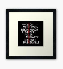 Sherlock - Acrostic Design Framed Print