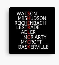 Sherlock - Acrostic Design Canvas Print