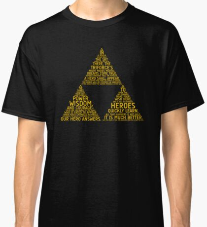 Legend of Zelda Typography Classic T-Shirt