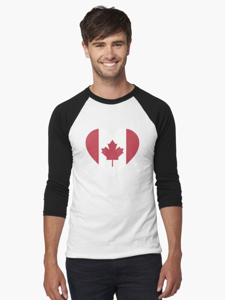 CANADA FLAG HEART SHAPED I LOVE T-SHIRT ALL SIZES