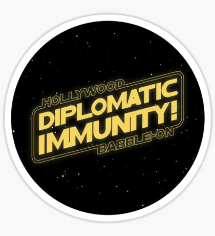Hollywood Babble-On: Diplomatic Immunity! Sticker