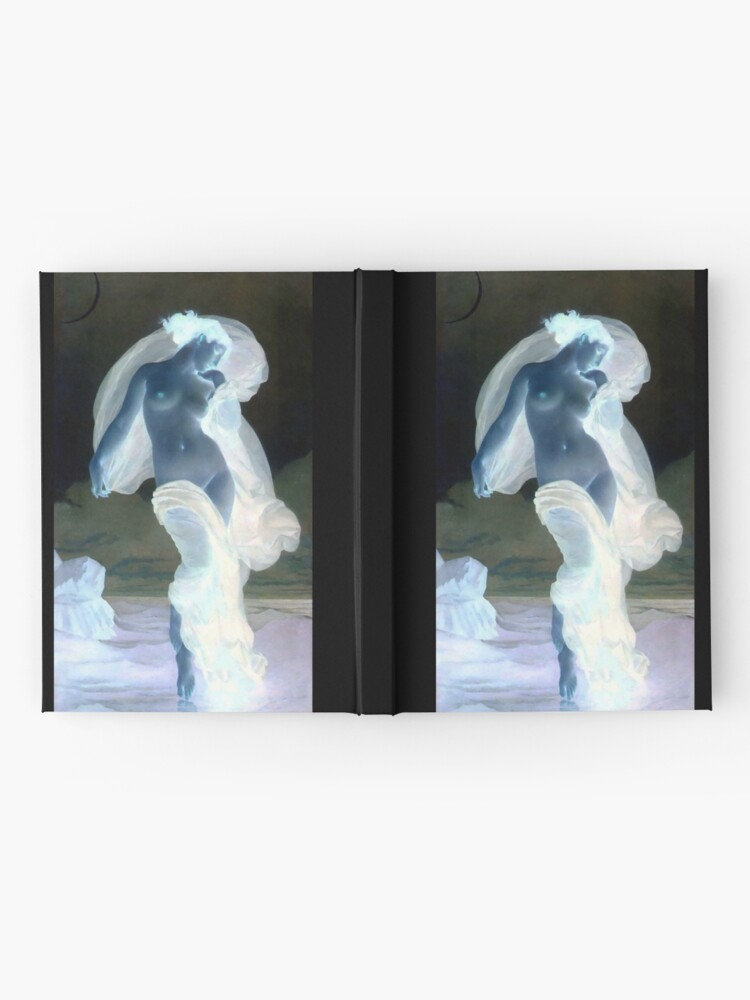 Alternate view of Evening Mood painting by William-Adolphe Bouguereau Hardcover Journal