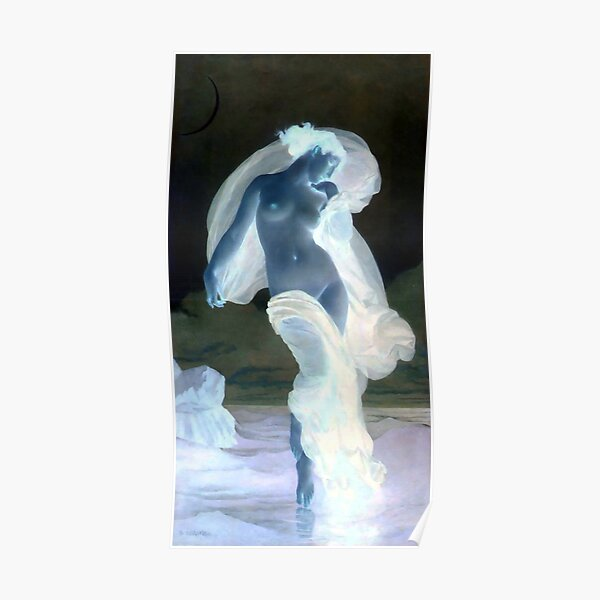 Evening Mood painting by William-Adolphe Bouguereau Poster