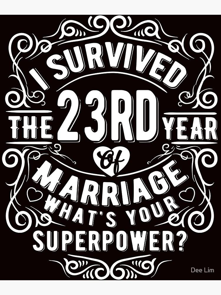 Hochzeitstag 23 23. Hochzeitstag