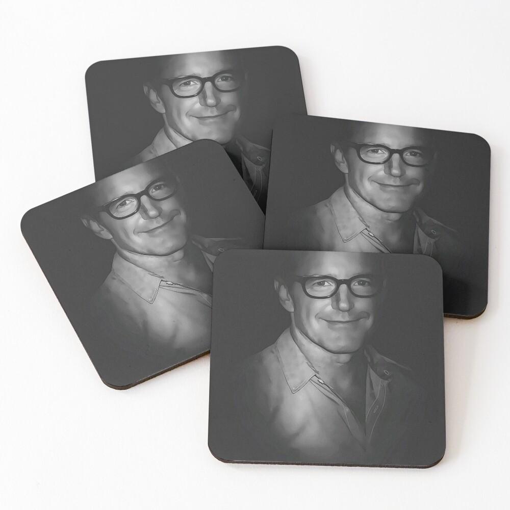 Clark Gregg University Fanart Coasters (Set of 4)