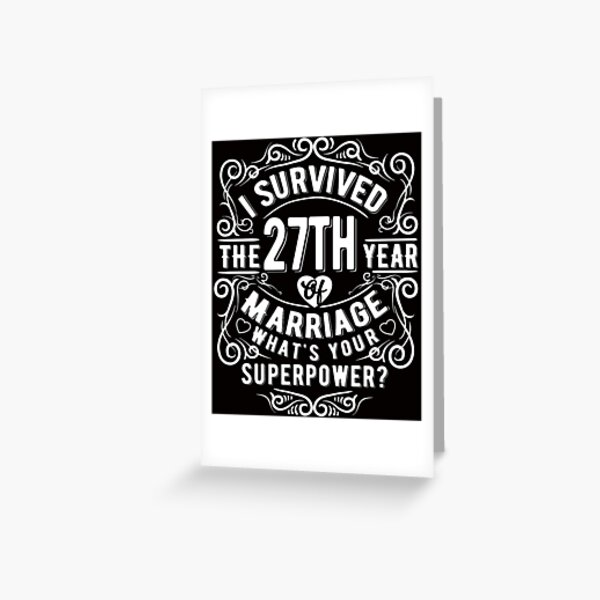 Funny Wedding Anniversary Gift 44 Years Wedding Marriage Gift Greeting Card By Essinet Redbubble