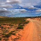 Desert road. by Rudi Venter
