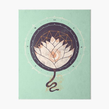 Lotus Art Board Print