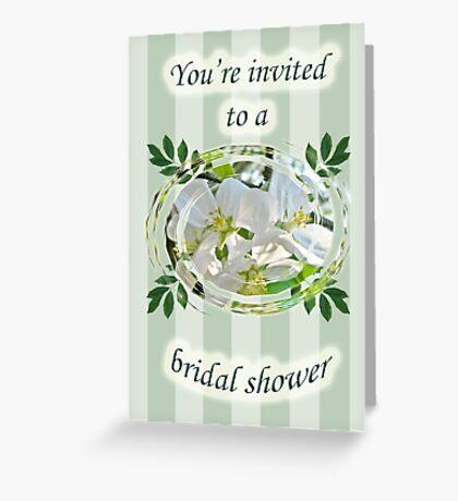 Bridal Shower Invitation - Apple Blossoms Greeting Card