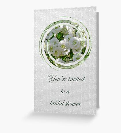 Bridal Shower Invitation - White Spirea Greeting Card