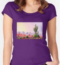 A Desert Scene * Women's Fitted Scoop T-Shirt