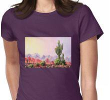 A Desert Scene * Womens Fitted T-Shirt