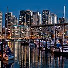 Night on Burrard Marina by Carolann23