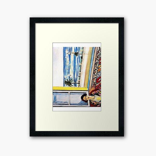 HAUTE RÉSOLUTION Femme assise, dos tourné vers la fenêtre ouverte Henri Matisse Impression encadrée