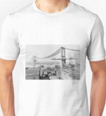 Construction of The Manhattan Bridge (1909) T-Shirt