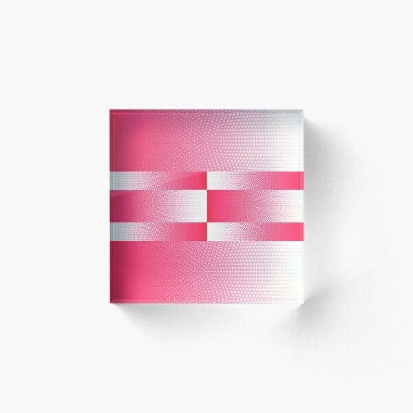Ombre dots design spring Acrylic Block