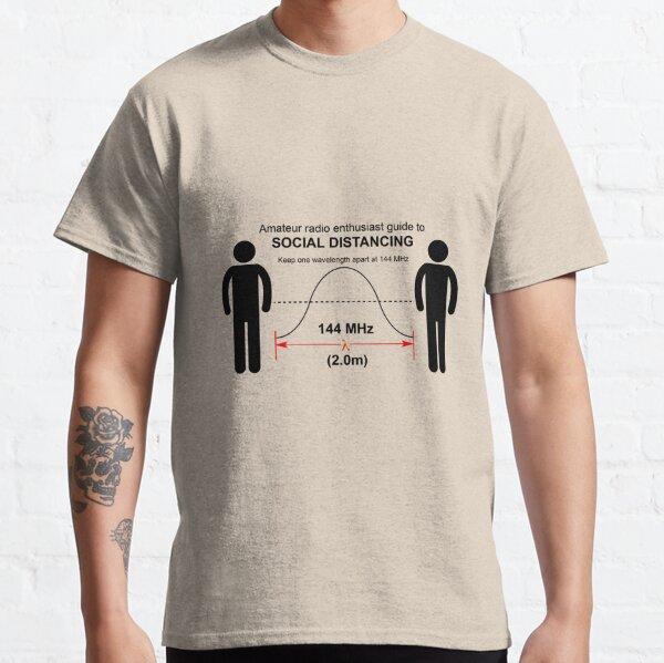 Radioaficionado Distancia social Camiseta clásica