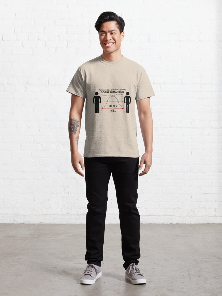 Alternate view of Amateur radio Social Distancing Classic T-Shirt