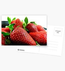 Fresh Juicy Strawberries Postcards
