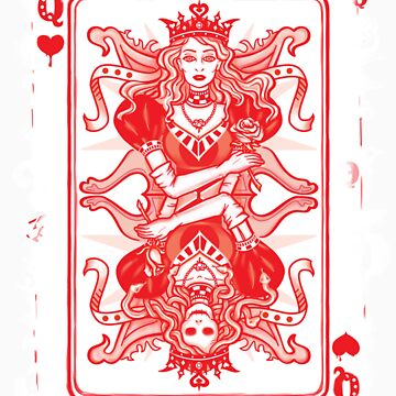 QUEEN OF HEARTS, poker card. by AliciaFuentes