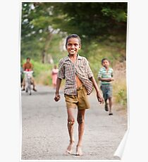 An innocent child, happy in his world, oblivious to the travails around him Poster