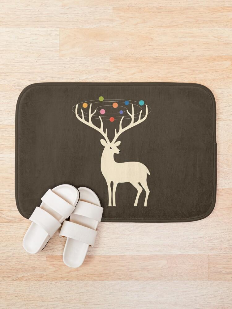 Alternate view of My Deer Universe Bath Mat