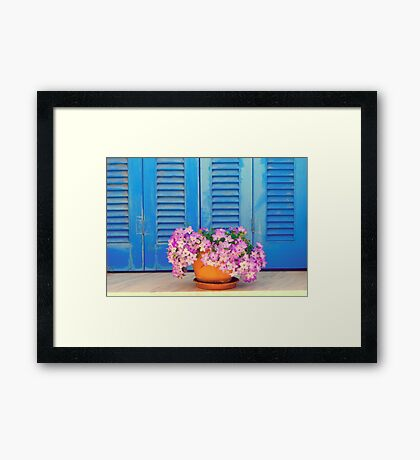 Blue & Purple Framed Print
