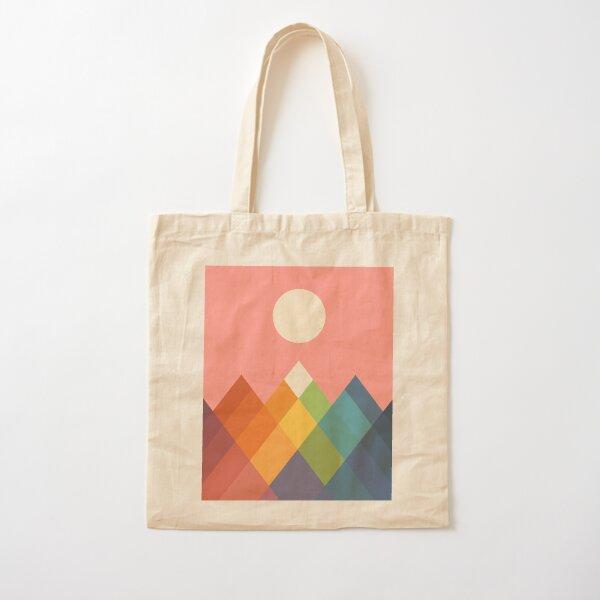 Rainbow Peak Cotton Tote Bag