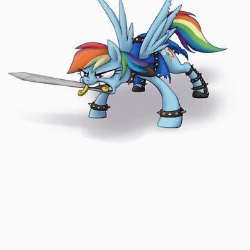 Rainbow Dash Sword by fluttershy1