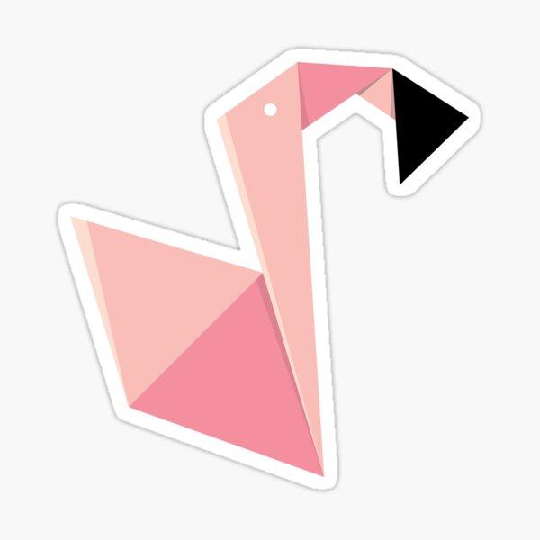 Origami Flamingo Sticker