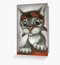 Pirate kitten Greeting Card