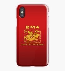 Chinese New Year of The Horse 2014 iPhone Case