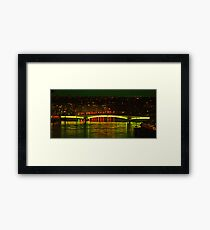Wandsworth Bridge at Night - A Golden Gate  Framed Print