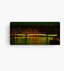 Wandsworth Bridge at Night - A Golden Gate  Canvas Print