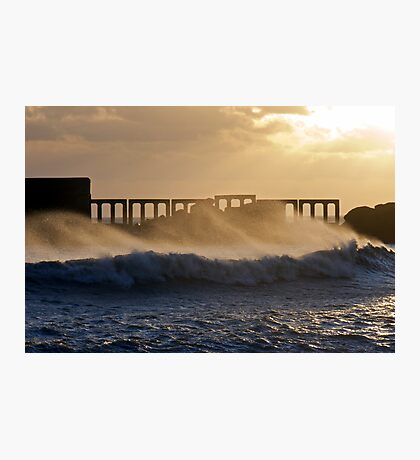 Golden Spray Photographic Print