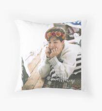 Park Jimin (BTS) - Flower Crown Throw Pillow