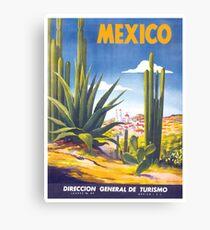 Mexico Travel Poster 3 Leinwanddruck